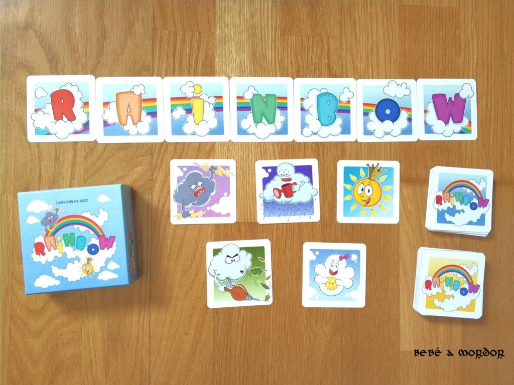 juego de mesa Rainbow cartas