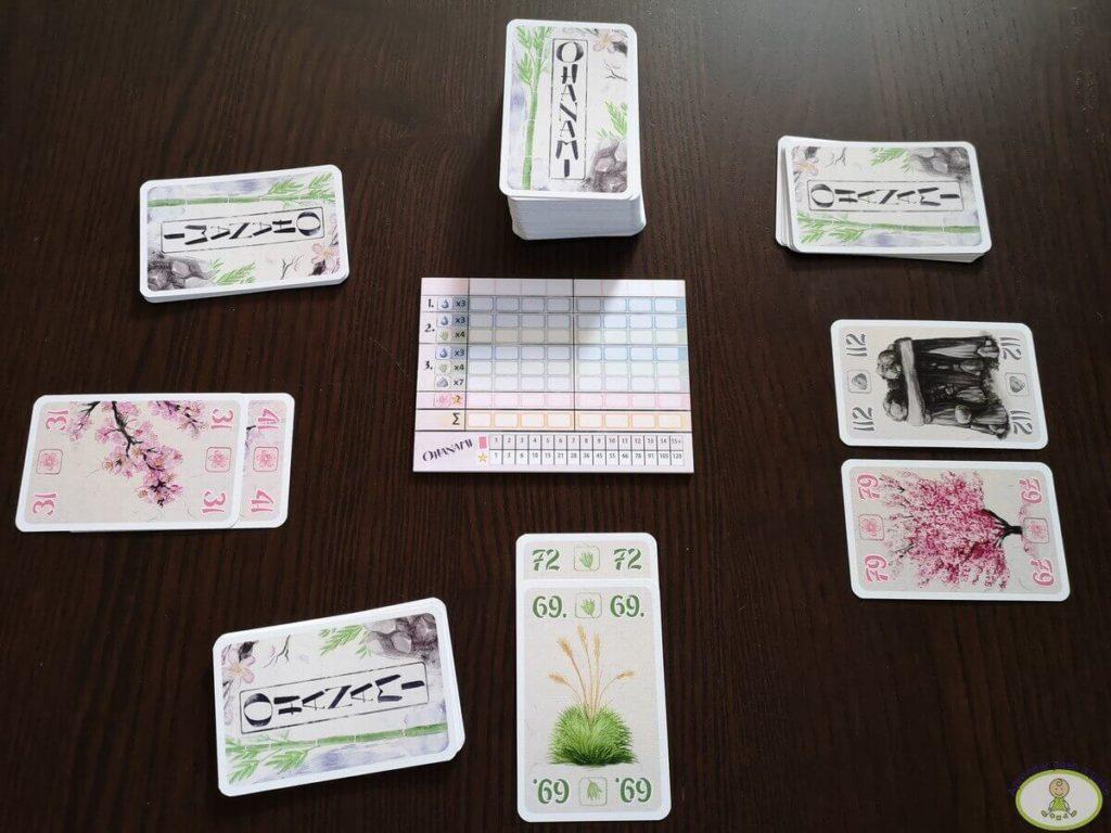 Ohanami juego de cartas cómo se juega