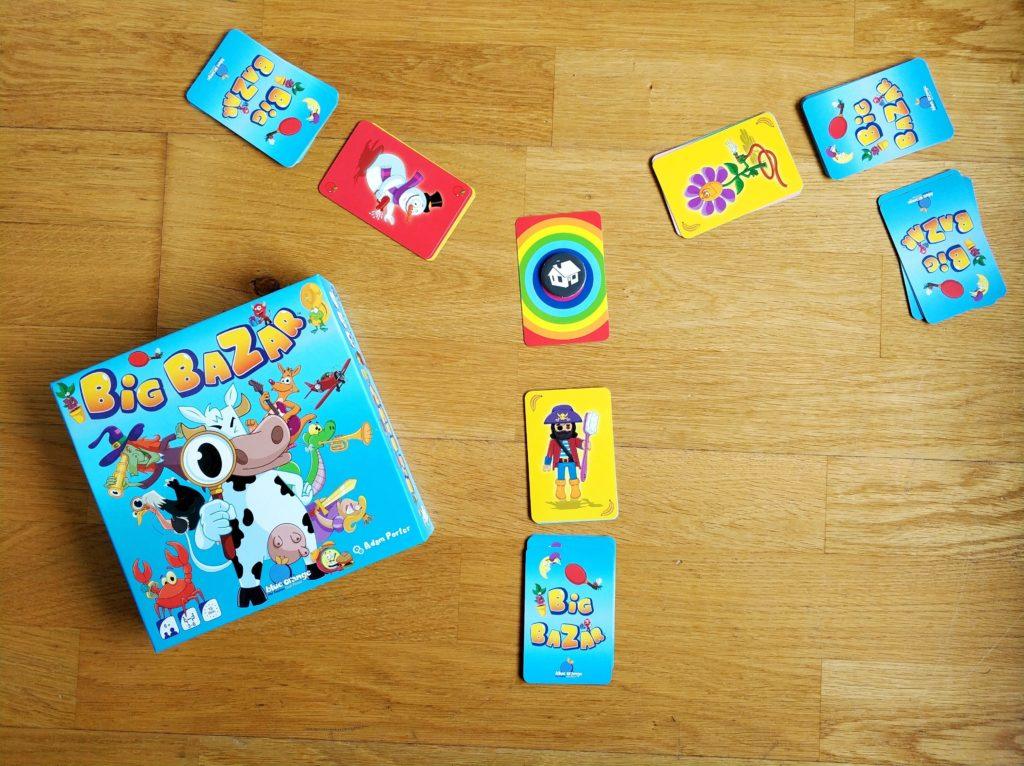 Disposición cartas juego de mesa Big Bazar