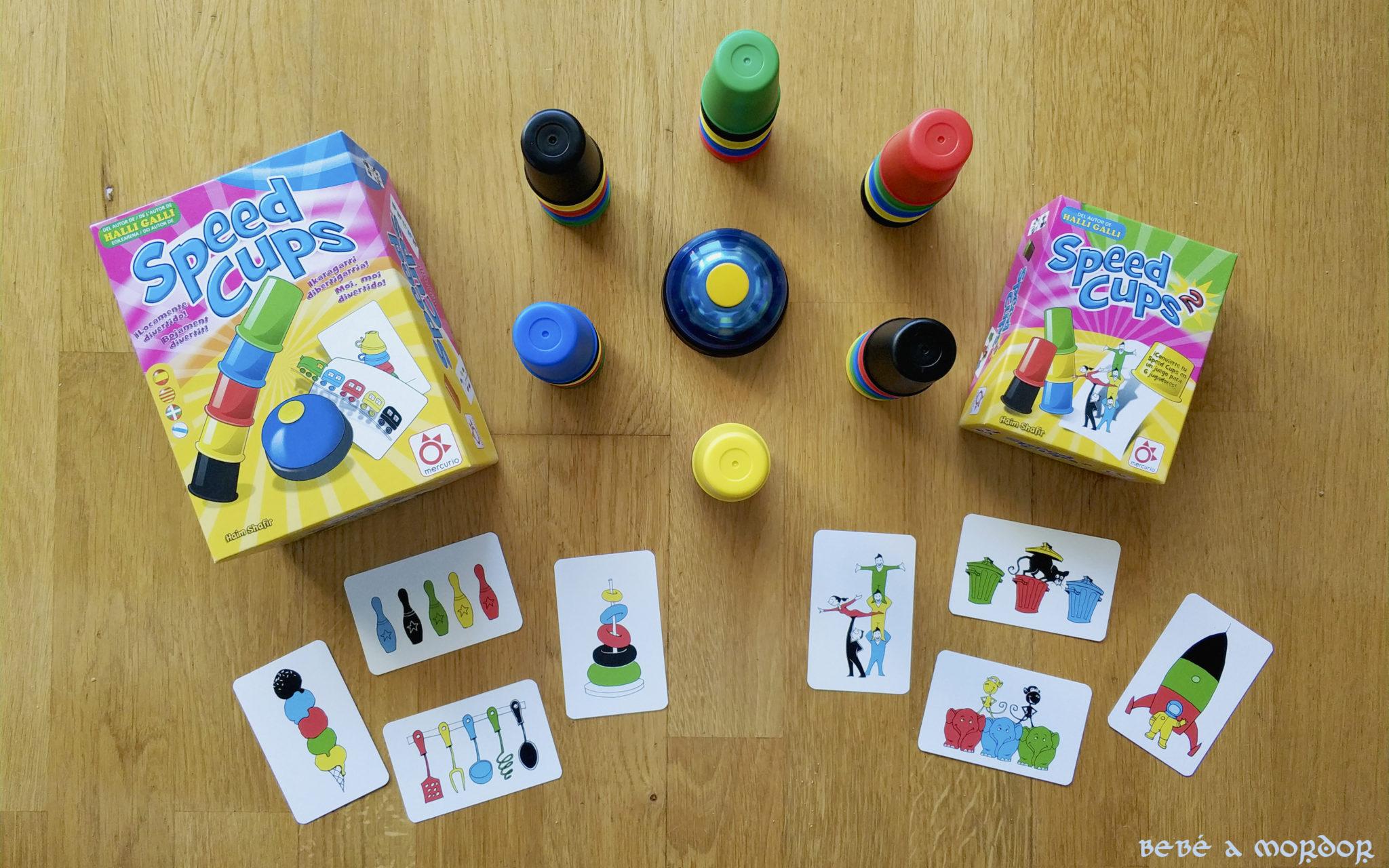 Speed Cups y Speed Cups 2 juegos de mesa Mercurio