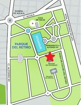mapa Parque de El Retiro para el juego de rol Monster Kit En La Guarida de los Gamusinos