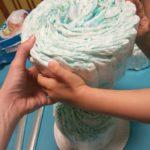 cómo hacer tarta de pañales DIY