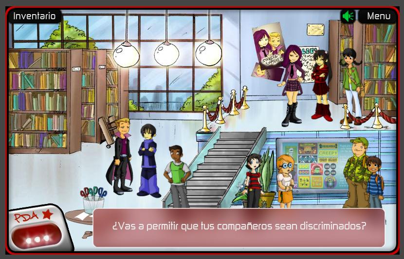 aventura gráfica videojuego Valores y Derechos Humanos