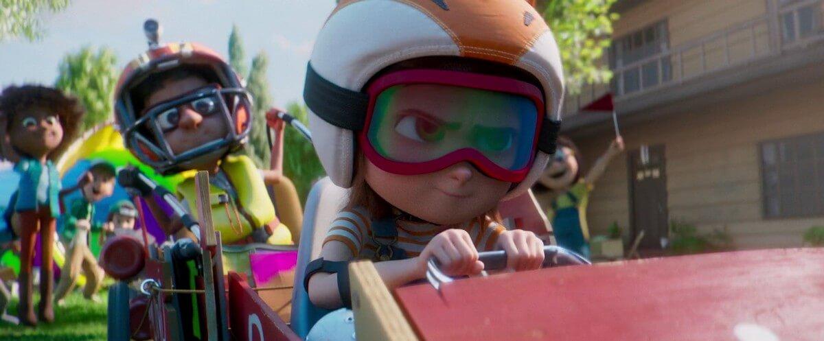 June construye un vehículo con sus amigos en el Parque Mágico