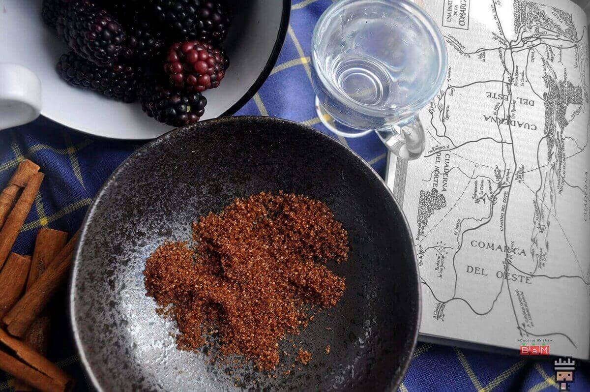 ingredientes de la receta de tarta rústica de moras postre medieval
