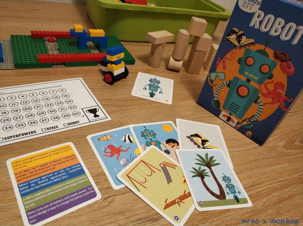 juego creativo para niños Inventa Kit Robot Kibo