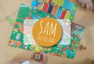 reseña cómo se juega al juego de mesa Sam the Villain de Cayro the Games