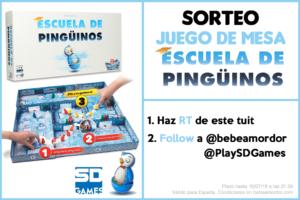 sorteo juego de mesa Escuela de Pingüinos