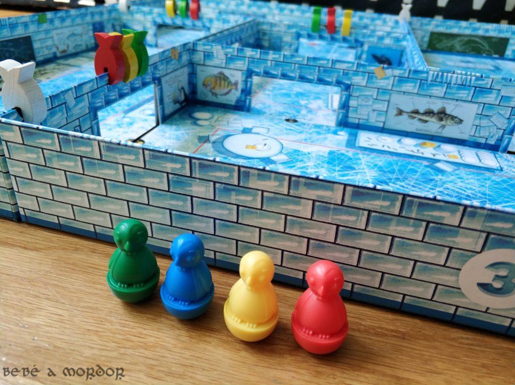Pingüinos y caja