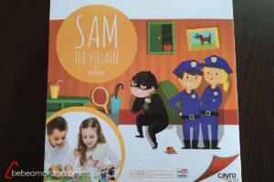 caja juego de mesa Sam the Villain de Cayro the Games