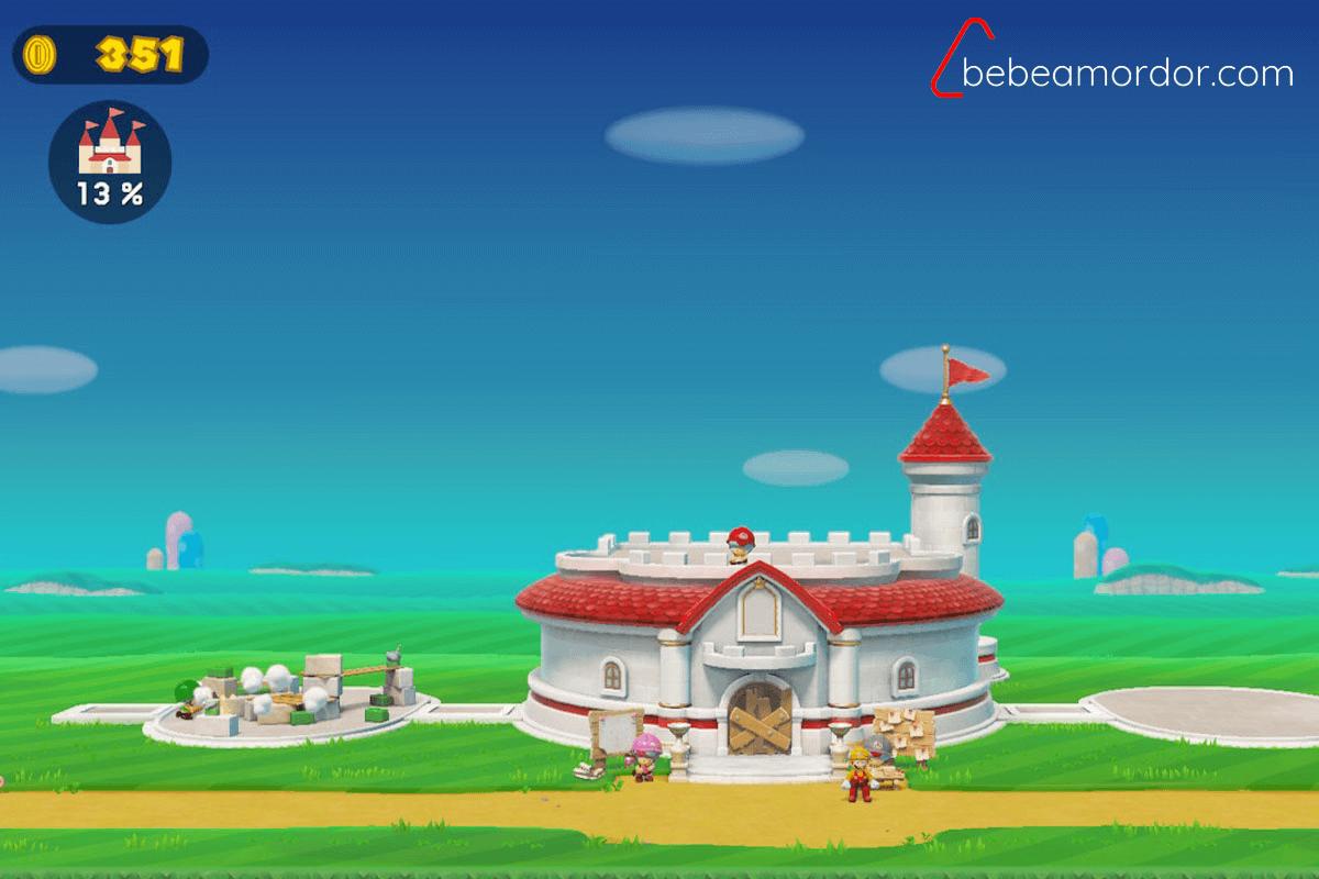 Proceso de construcción del castillo de Super Mario Maker 2