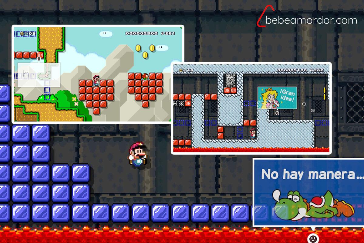 Mensajes en los niveles online de Super Mario Maker 2