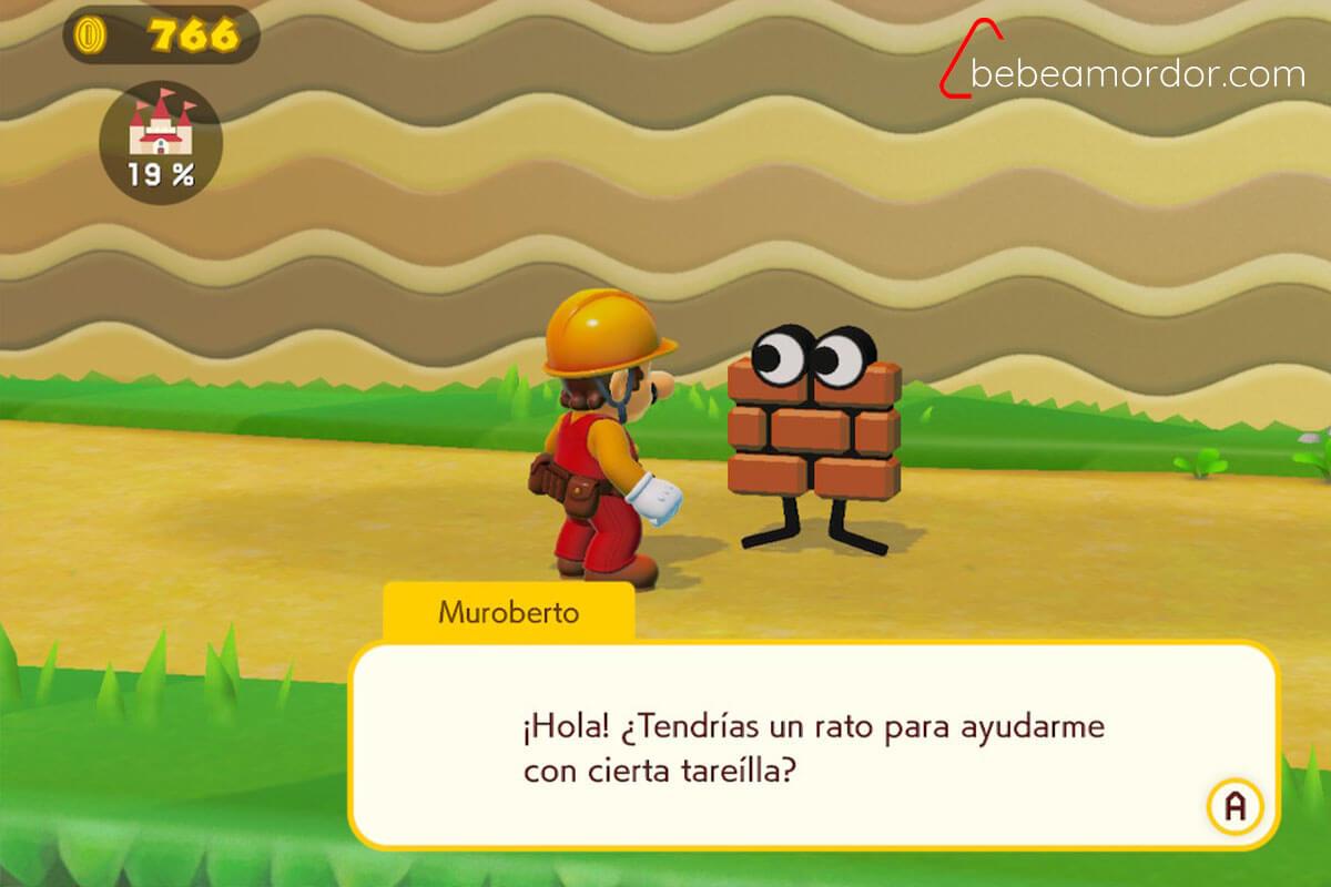 Muroberto, el personaje de Mario Maker 2