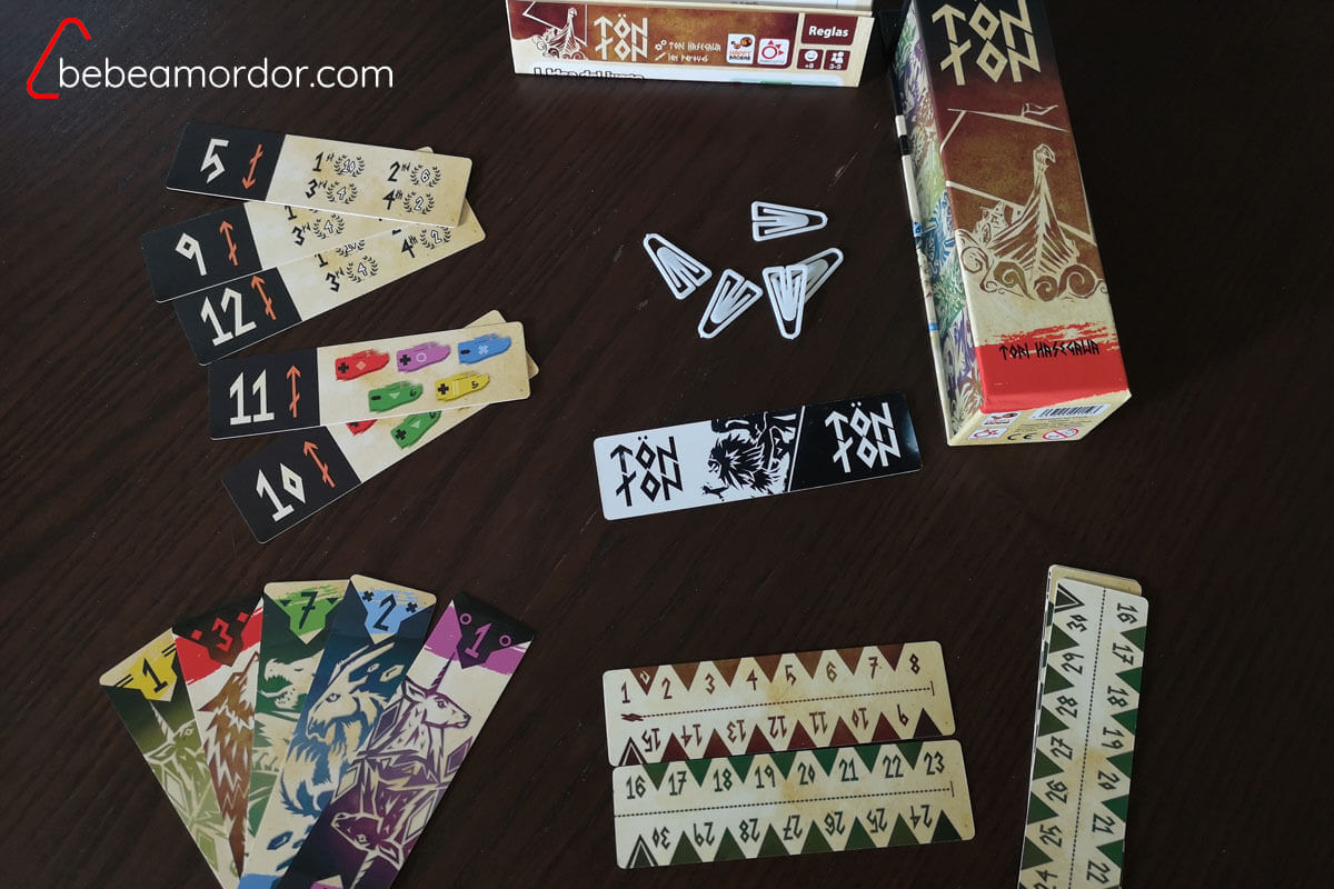 componentes del juego Tön Ton