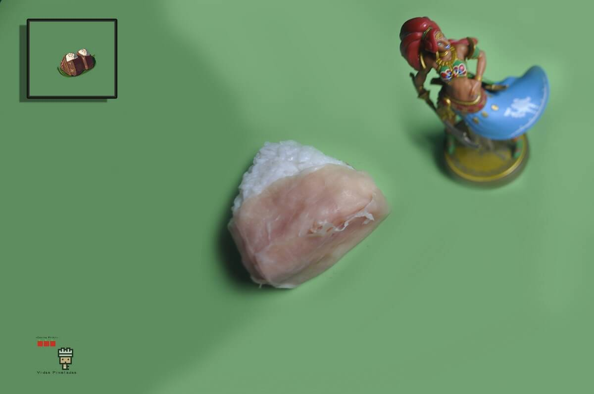 bolas de arroz de carne de Zelda