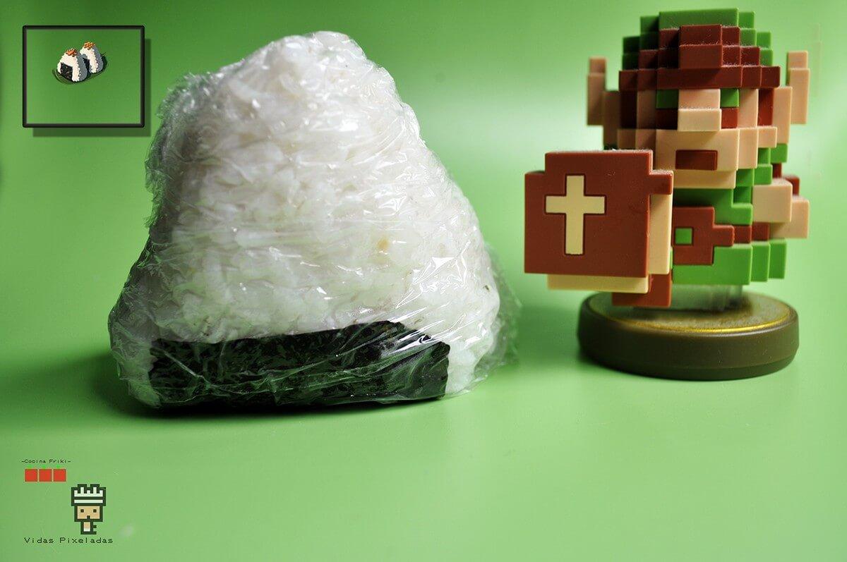 Bolas de arroz inspiradas en Zelda de marisco