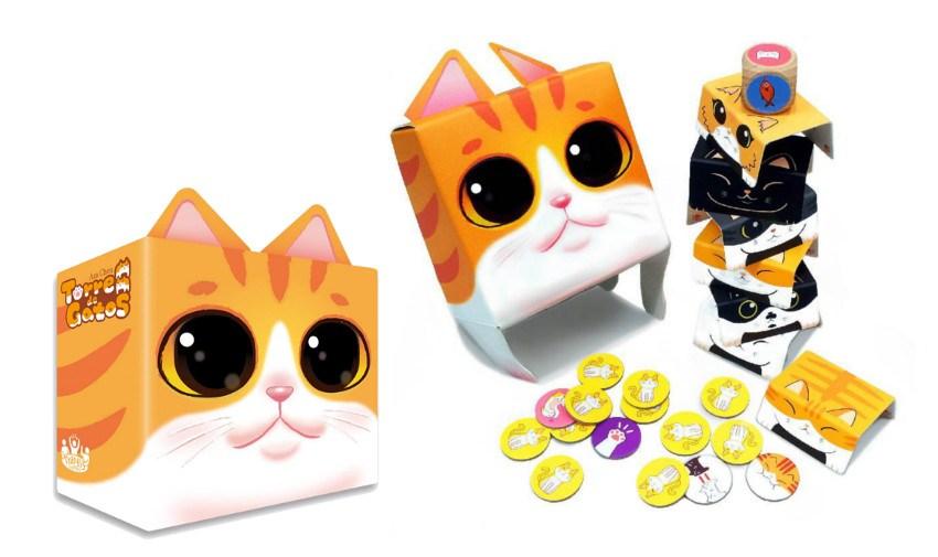 juego de mesa Torre de gatos Tranjis