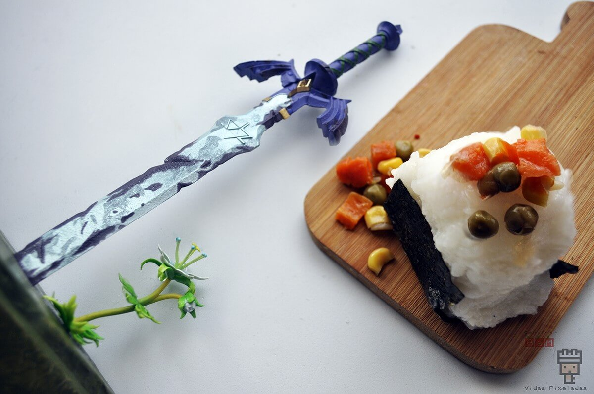 receta de Onigiri vegetal