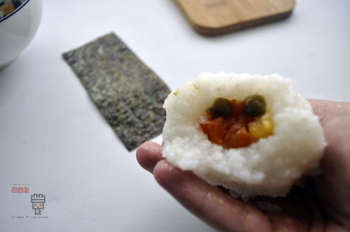 recetas inspiradas en Zelda como este onigiri vegetal