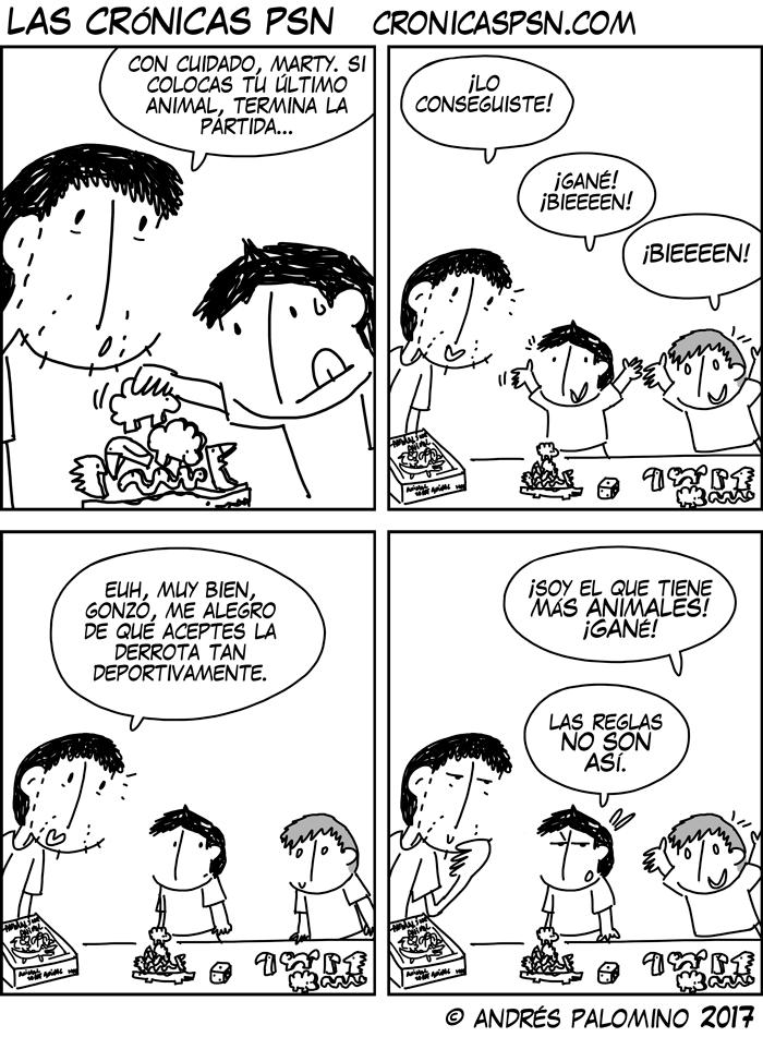Tira cómica Cronicas PSN niños tolerando la frustración a su modo