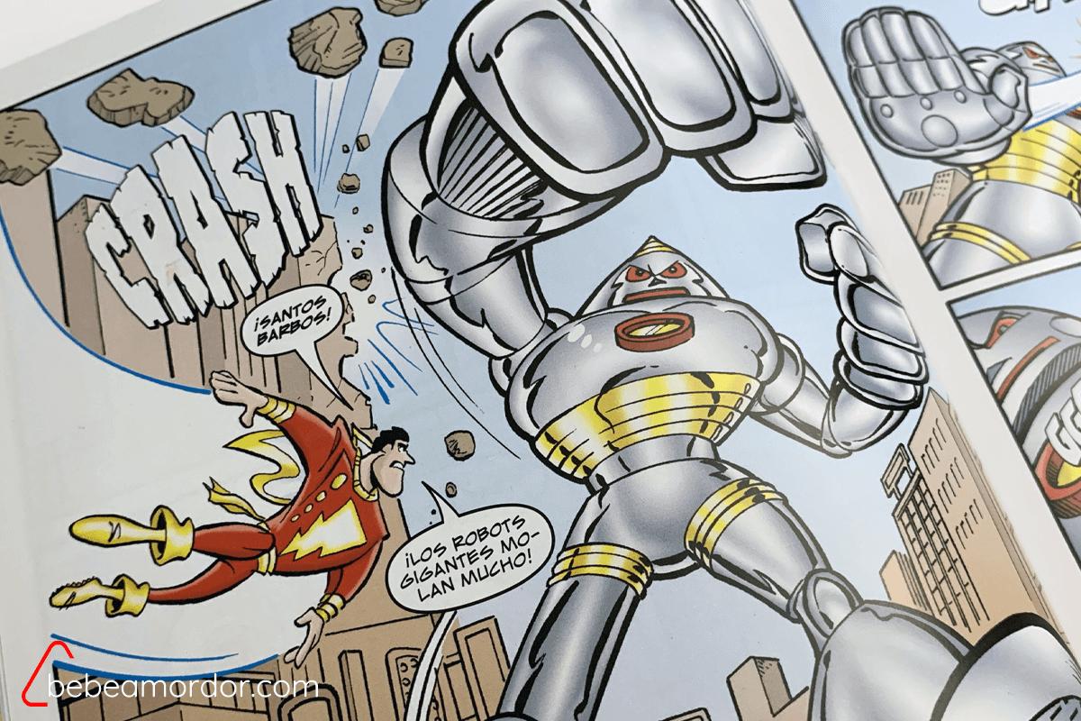 Superhéroes y robots. Éxito asegurado entre los peques.