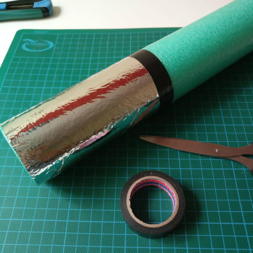 Como hacer sable laser Star Wars con churro