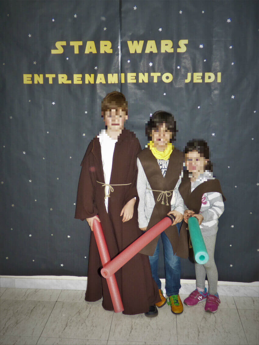 Photocall Star wars Academia jedi