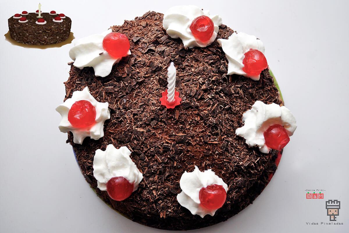 montaje final receta del pastel de Portal