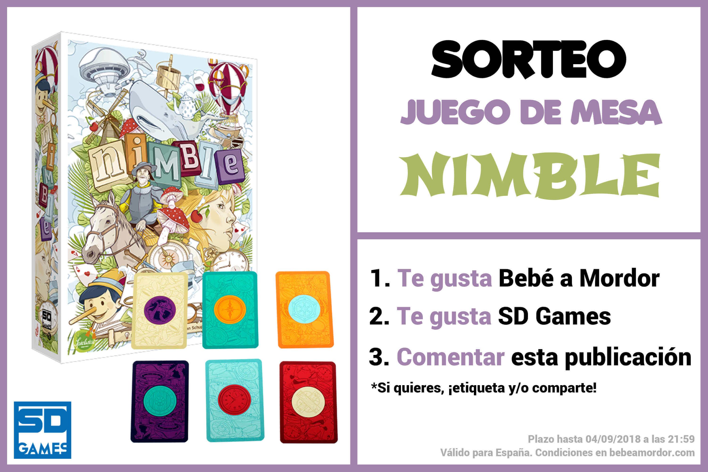 Caja y cartas juego de mesa Nimble