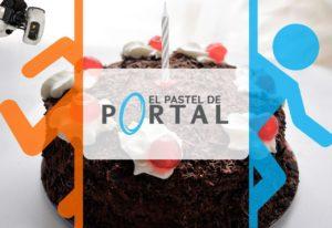 portada de la receta del pastel de portal el videojuego