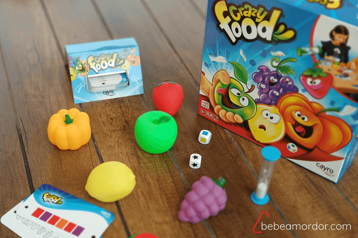 componentes y juego de mesa Crazy Food