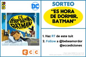 sorteo TW cuento de Batman para niños