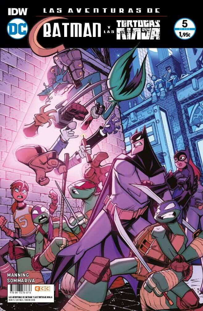 Las aventuras de Batman y las Tortugas Ninja portada 2