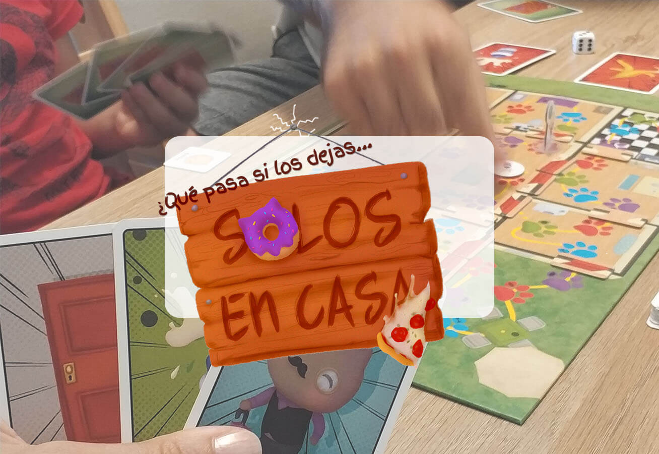 portada reseña cómo se juega al juego de mesa Solos en Casa