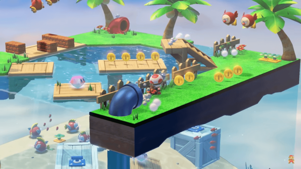 NIVEL PECERA CAPTAIN TOAD TREASURE TRACKER SWITCH
