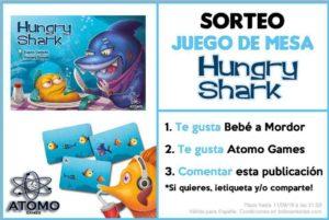 sorteo en Facebook juego de mesa Hungry Shark