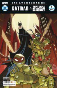 crossover Batman y las tortugas Ninja para niños