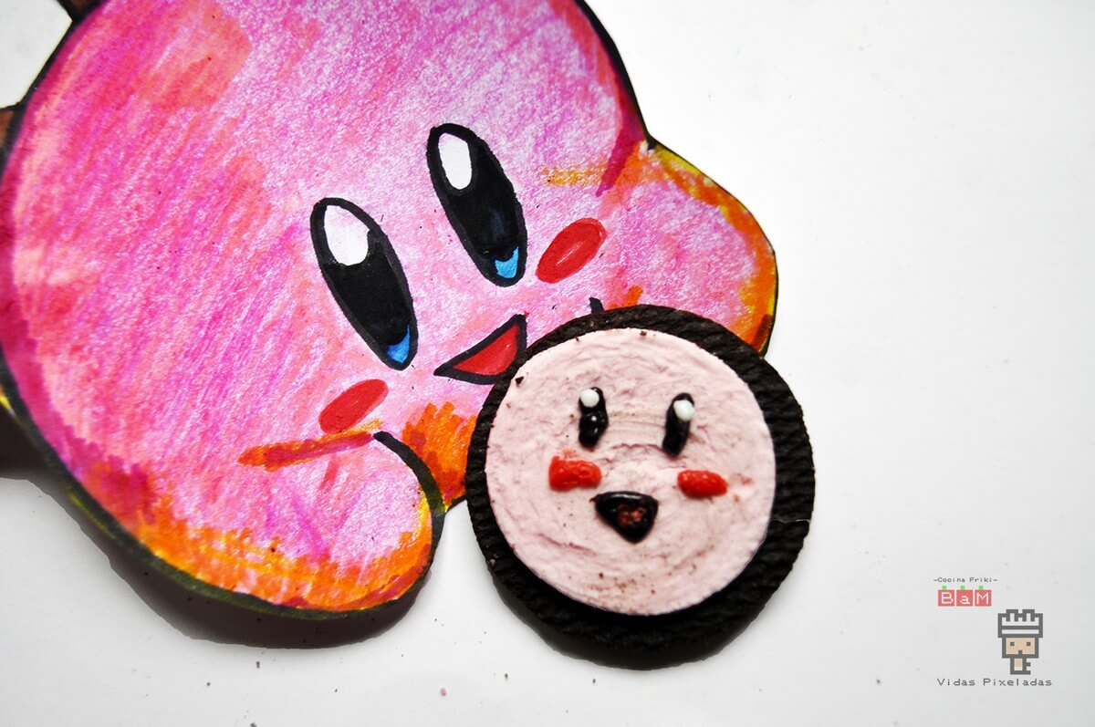 esferas de chocolate rosa de Kirby cocina friki
