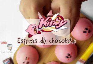 portada receta cocina friki esferas de chocolate rosa de Kirby