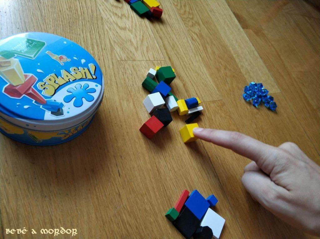 preparación elegir piezas juego de mesa Splash!