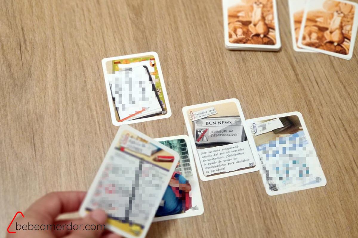 Colocar cartas hilo historia sherlock junior suriguri