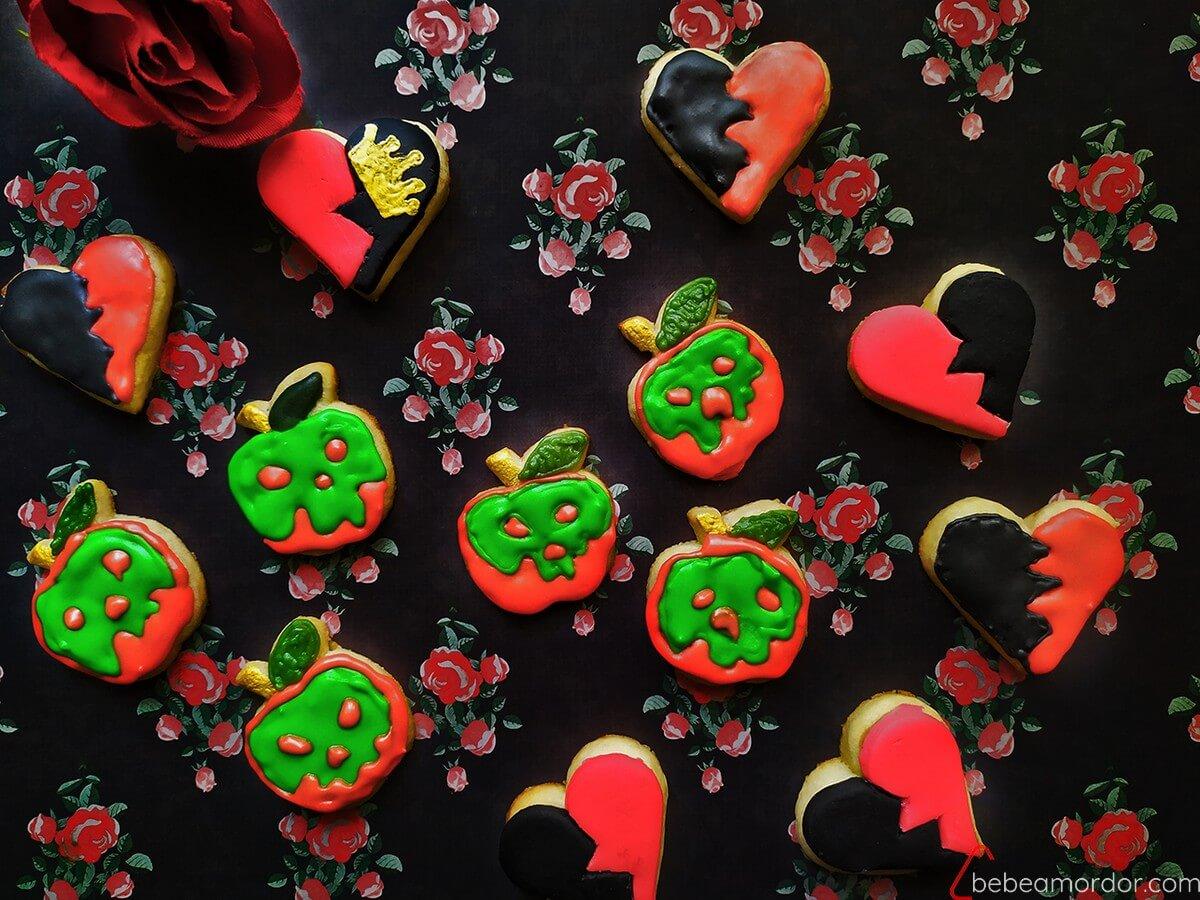 galletas de las villanas de Disney Corazones Reina Malvada