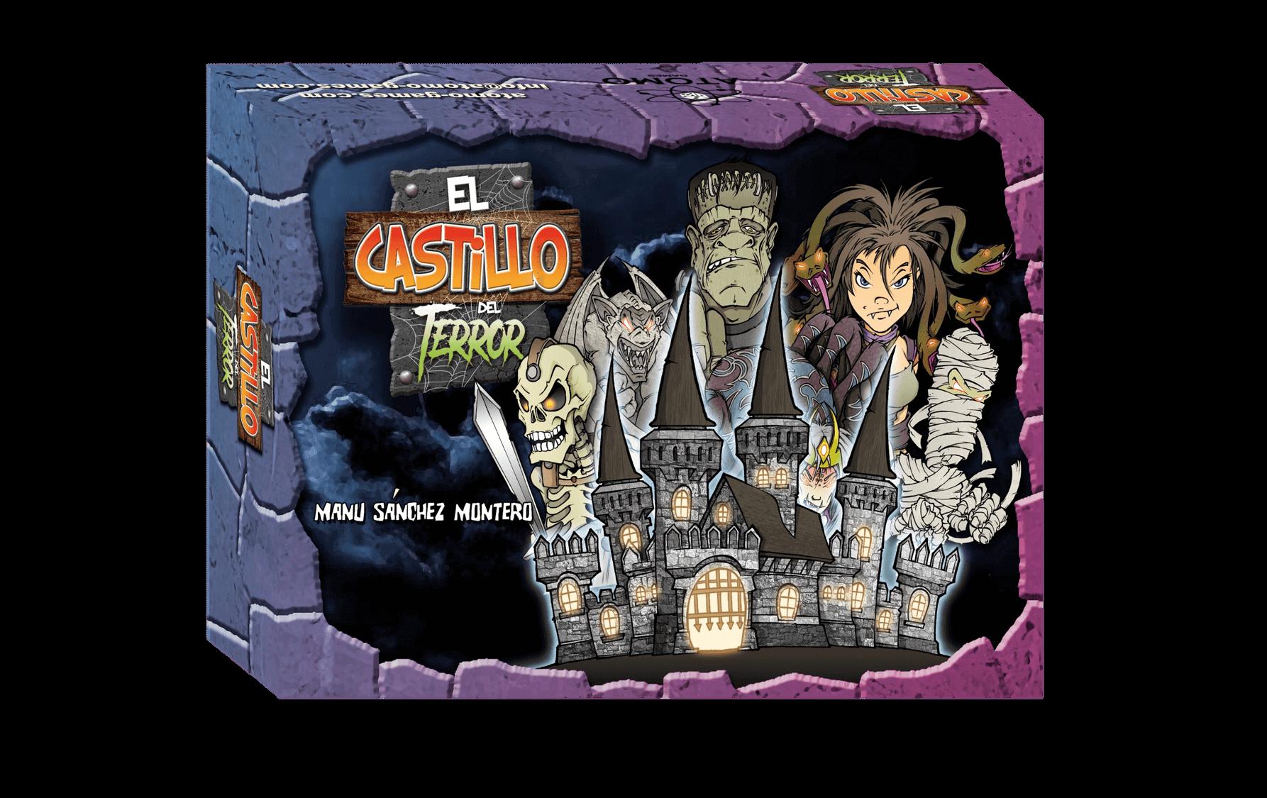 caja juegos de mesa 6 años para Halloween El Castillo del Terror