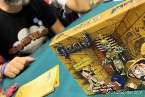 portada caja juego de mesa Gizeh!