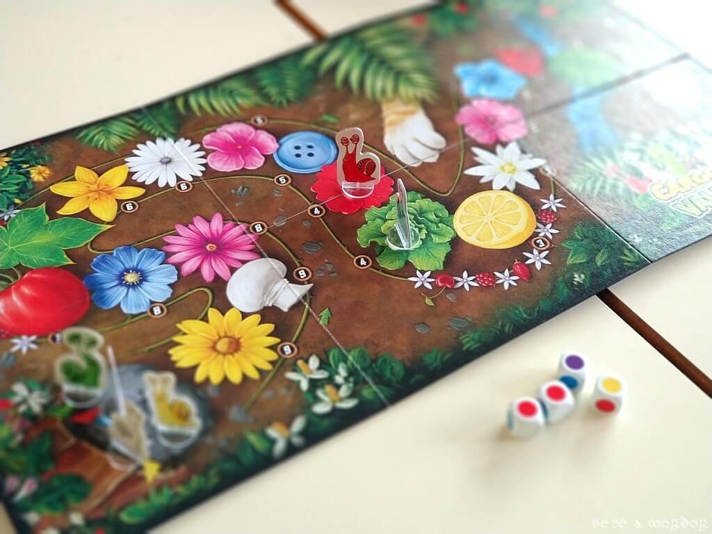 juego de mesa Cargolino Valentino dados de colores