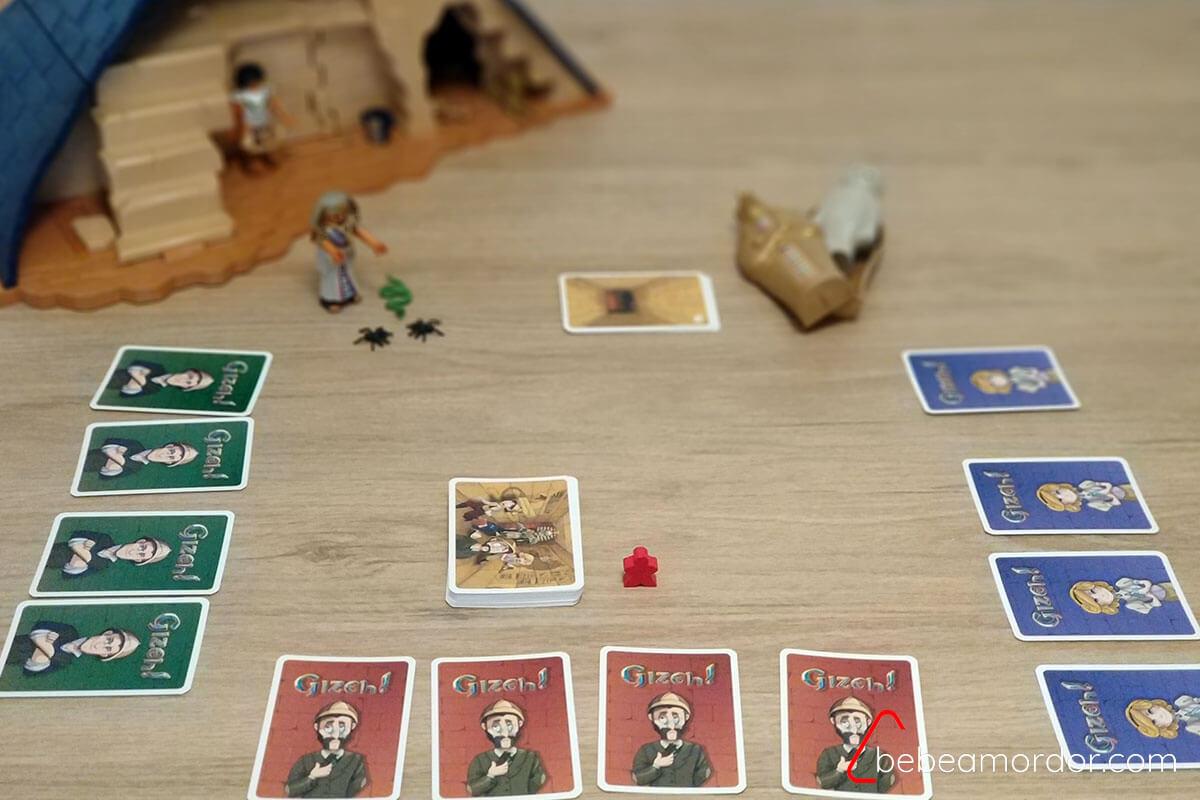 setup preparación juego Gizeh! de GDM Games