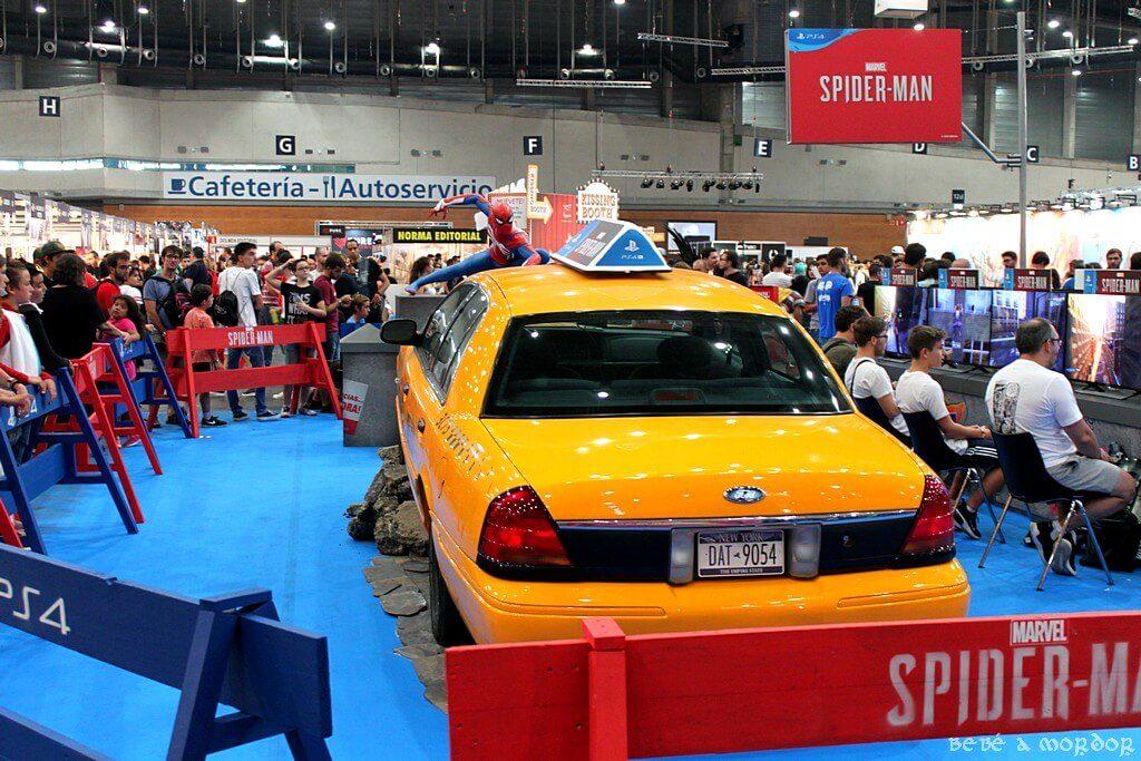 Taxi y Spiderman con videojuegos