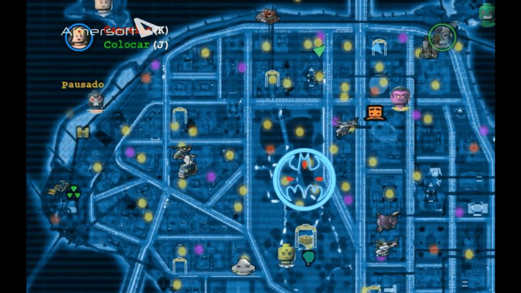 mapa videojuego Lego Batman 2