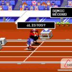 Mario y Sonic en los juegos olímpicos carrera