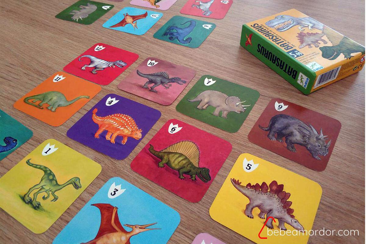 juego de mesa de dinosaurios Batasaurus